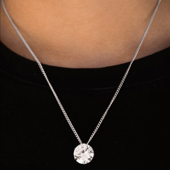 Dainty Diamond Necklace and Earrings